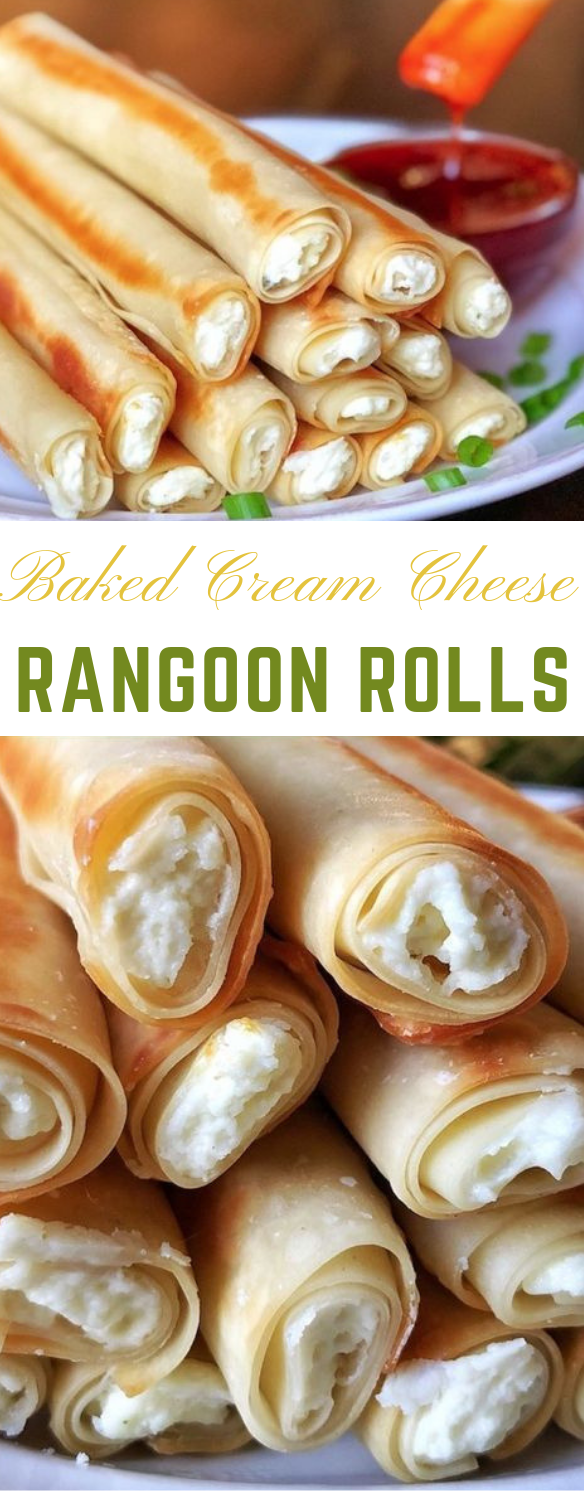 Baked Cream Cheese Rangoon Rolls #diet #healthy