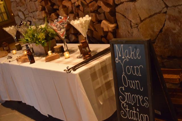 smores station, dessert station, camping desserts