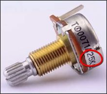 Potenciómetros de Guitarra Eléctrica para Pastillas Activas