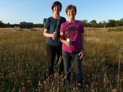 Forests Ontario's Green Leaders Susan Snelling (left) and Barb Erskine (right) on their property on Manitoulin Island