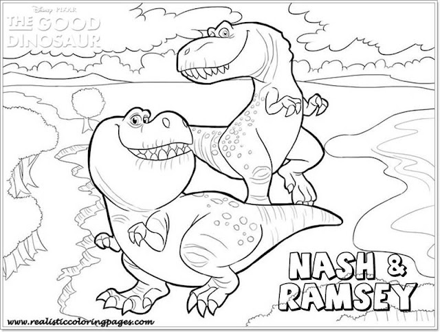 Nash and Ramsey good dinosaur coloring pages