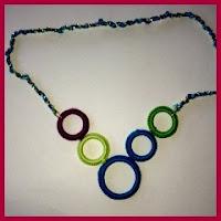 collar arandelas de crochet