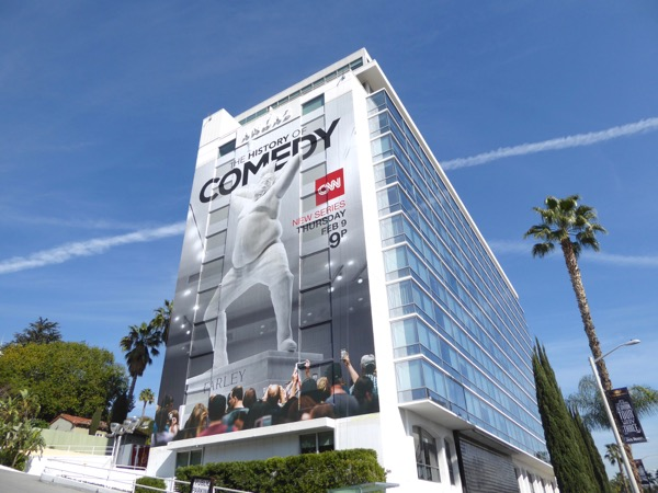 Giant History of Comedy Chris Farley TV billboard