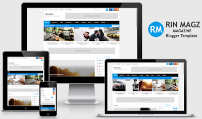 Rin Magz Responsive Magazine Blogger Templates Free Download