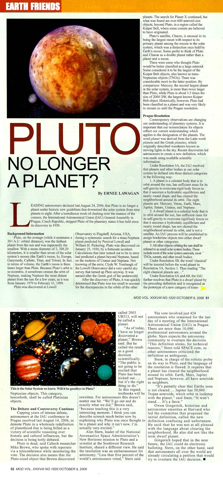 pluto demoted no longer a planet in highly controversial - 740×1600