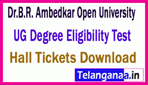 Dr.B.R. Ambedkar Open University UG / Degree ET Exam Hall Ticket