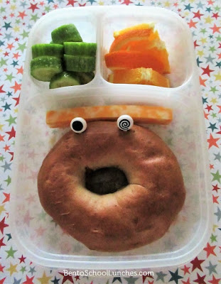 Bagel face lunch in Easylunchboxes