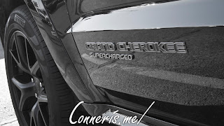 Jeep Cherokee Trackhawk Supercharged Badge