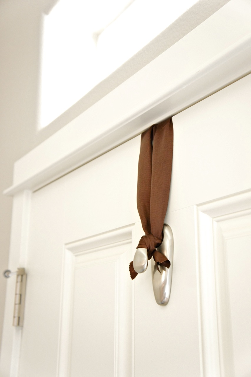 Place Your Hook Upside Down On The Top Of Door