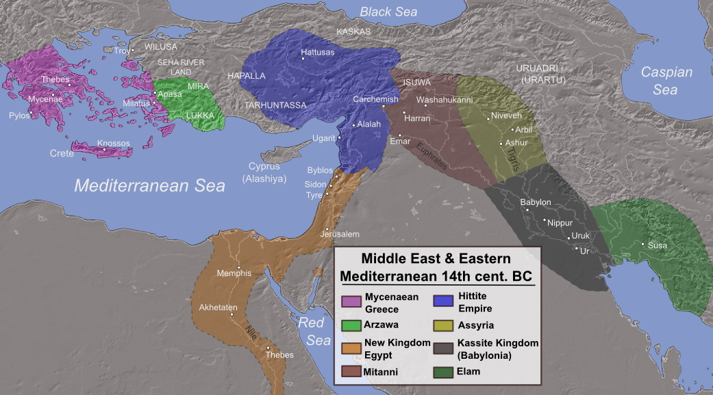 Middle East and Eastern Mediterranean (14th cent. BC)