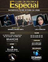 Clube da Milonga no Hotel Tulip Inn com Fernando Decampos