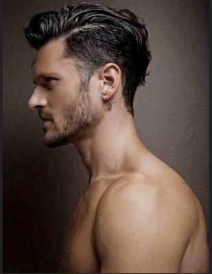 model rambut pomade ikal