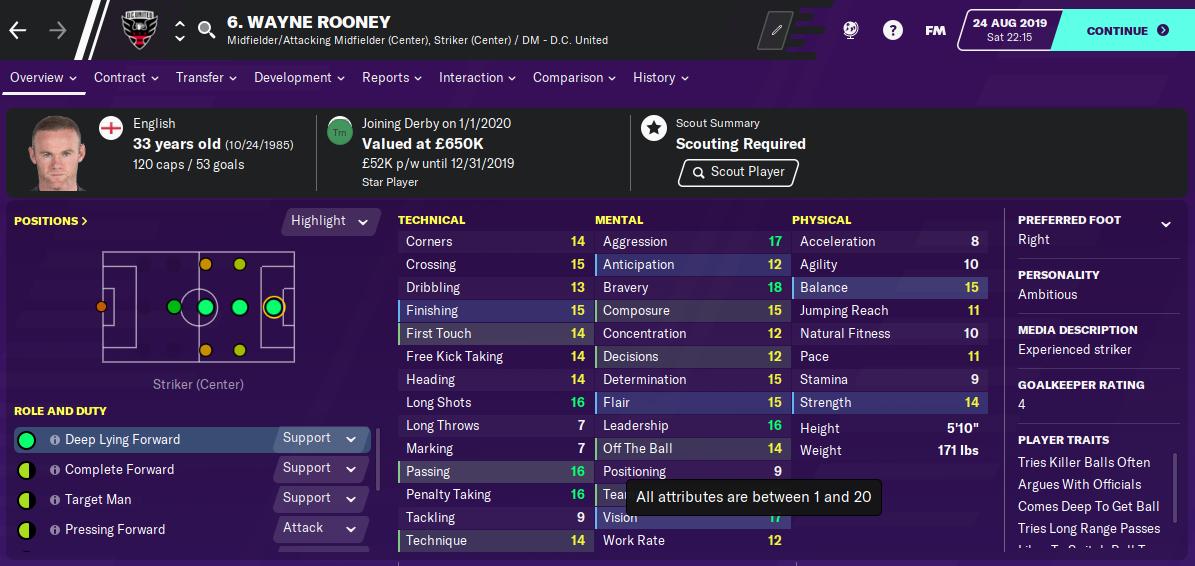 FM20 Wayne Rooney