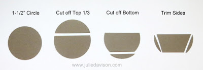 "How to createa flower pot or succulent dish from a 1-1/2"" Circle Punch ~ tip from www.juliedavison.com"