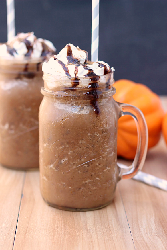 Pumpkin Mocha Frozen Coffee - Whats Cooking Love?