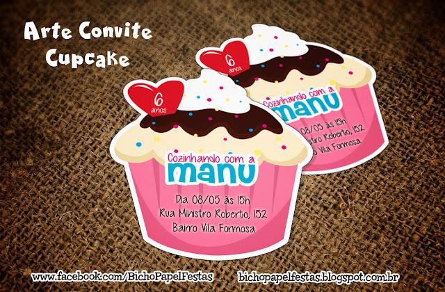 Convite Cupcake Doceria Confeitaria