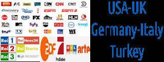 Germany UK USA TSN Italy RAI Turkey TRT