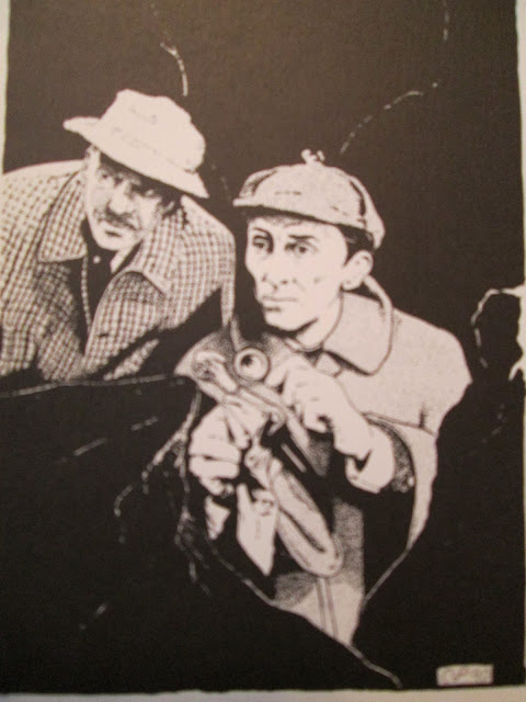Cushing and Morrell as Holmes and Watson - Prepolec