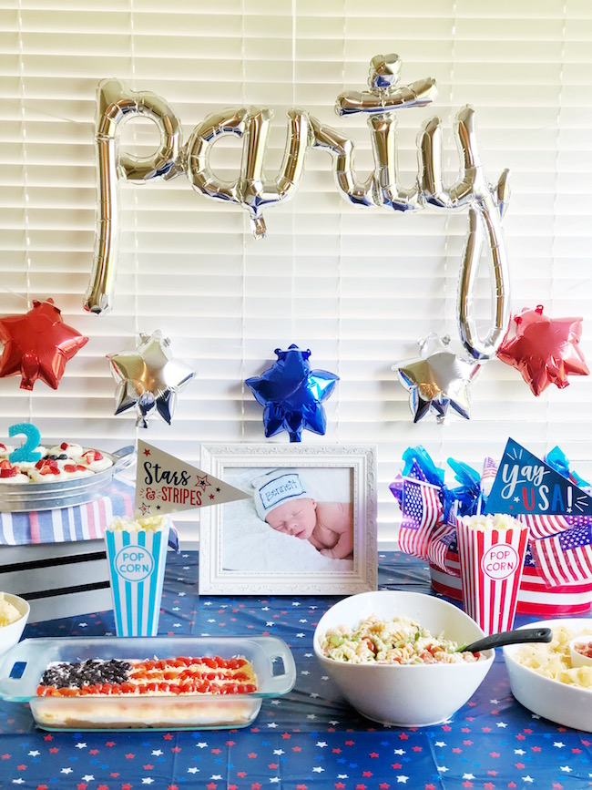 Red, White & Blue! Bennett is 2!