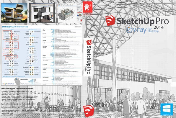 SketchUp Pro 2014 + cracked files (WIN-MAC) + vray (FULL