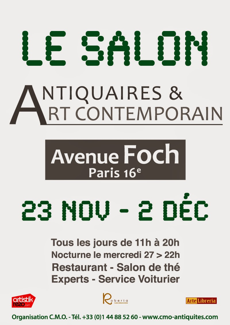 PARIS 16ème-AVENUE FOCH : L. LE FLOCH PRÉSENTE CAPTON AU SALON ANTIQUAIRES & ART CONTEMPORAIN