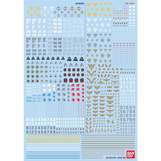 Gundam Decal DX 01 ~ 06 - Release Info - Gundam Kits Collection News and Reviews