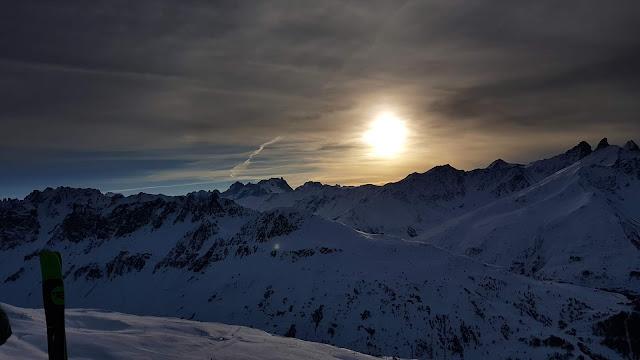Alpejski zachód słońca