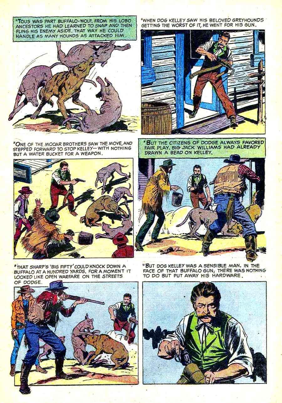 Gunsmoke v2 #9 golden silver age comic book page art by Al Williamson