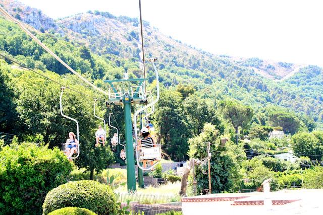 seggiovia, monte Solaro, vegetazione, turisti. alberi