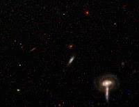 Background group of galaxies