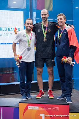 Alemania y Francia se llevaron las medallas del squash masculino en la jornada 8 de los Juegos Mundiales 2017