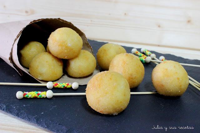 Croquetas de queso manchego. Julia y sus recetas
