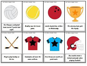 Liz S Speech Therapy Ideas Sports Language Packets
