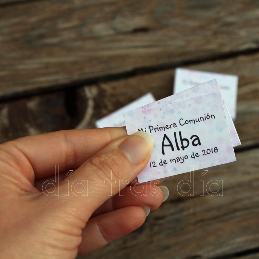 Etiquetas comunión personalizadas