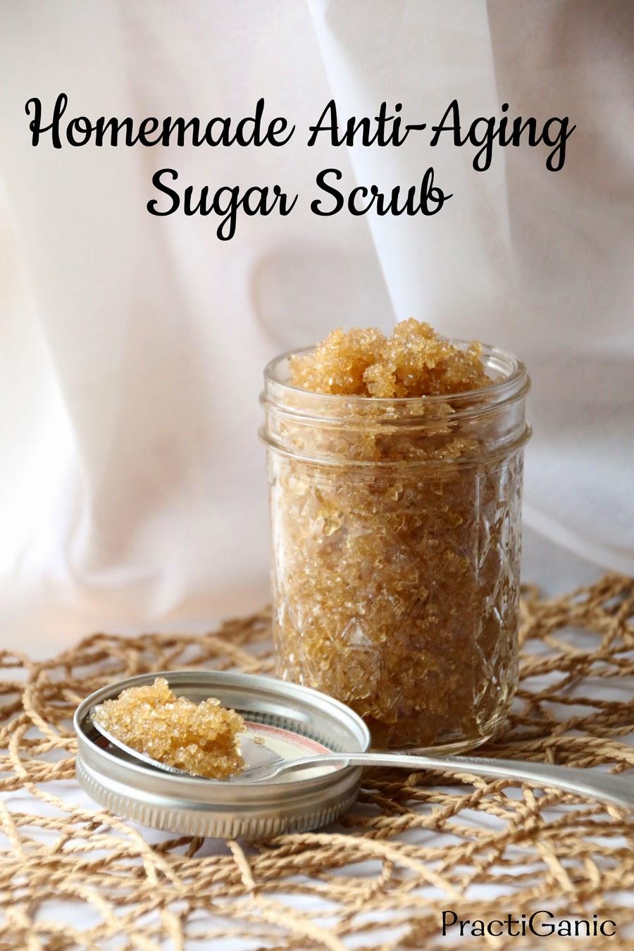 Homemade Anti-Aging Sugar Scrub