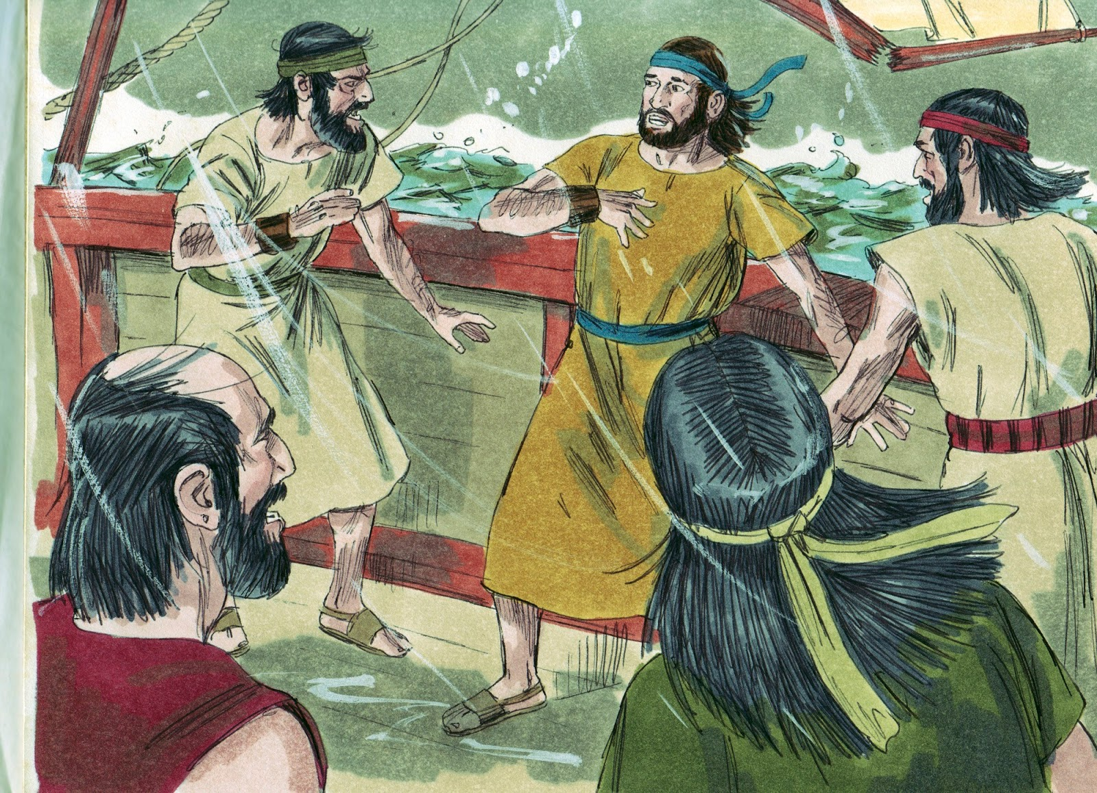 The sailors did not immediately throw Jonah overboard or beating him to death after they found out that he was the cause of the storm.