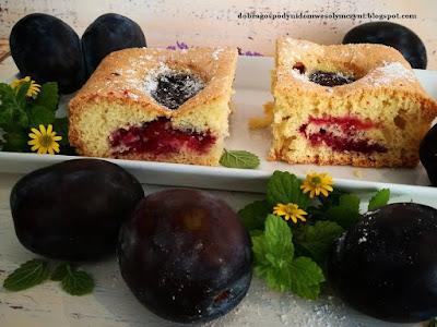 ciasto ze śliwkami bez margaryny na oleju