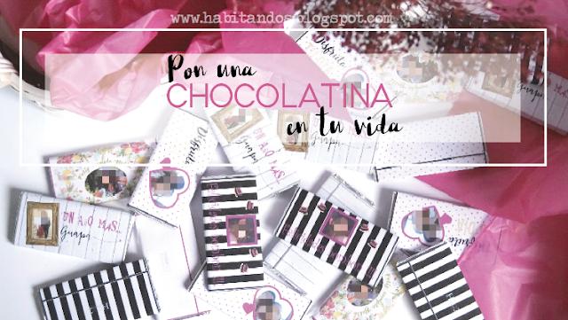 Chocolatinas personalizadas para eventos diseño de Habitan2
