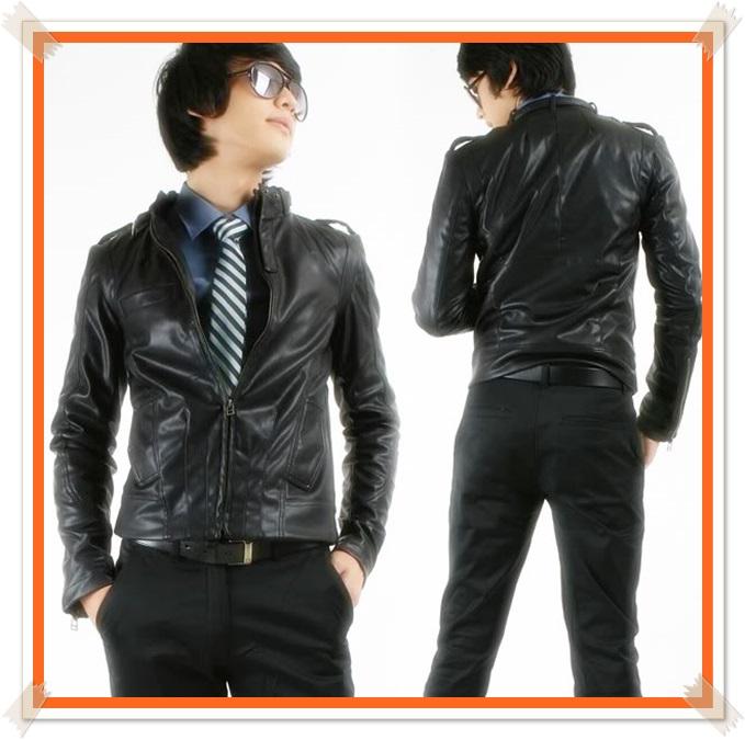 foto jaket kulit asli pria