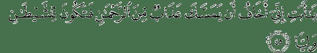 Surah Maryam ayat 45