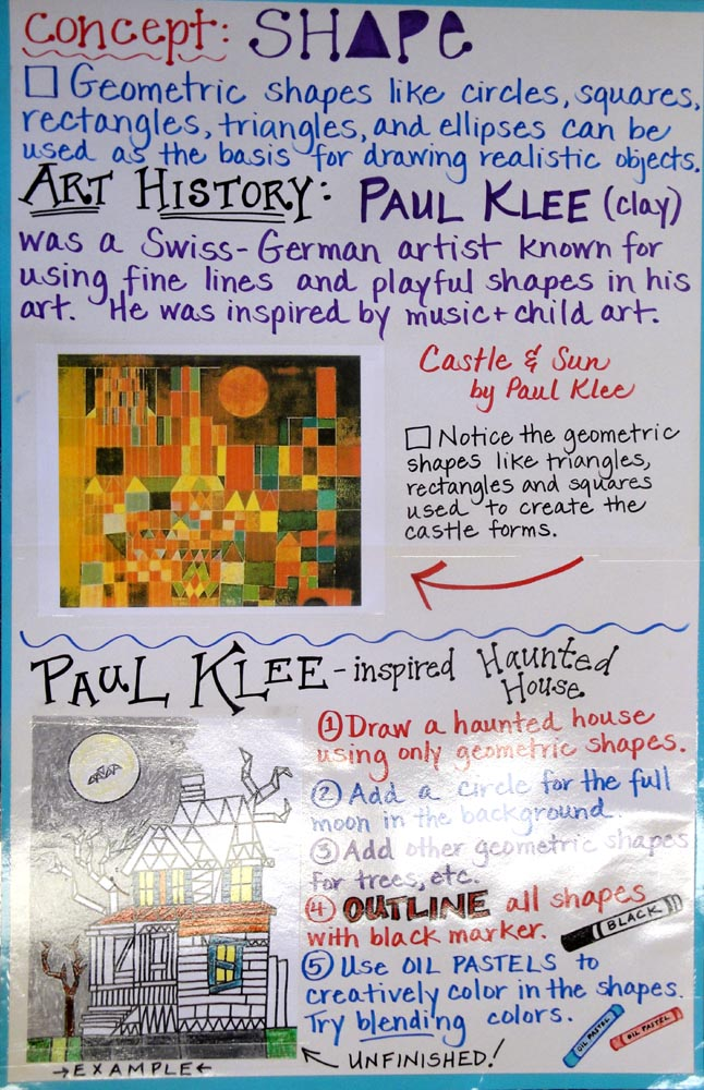 Lines From The Art Room Shape Project Posters