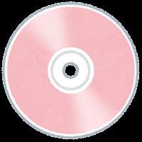 ディスクメディアのイラスト(ピンク)