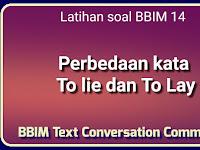 Latihan Soal Belajar Bahasa Inggris Mandiri 14 : Perbedaan Kata To Lie dan To Lay