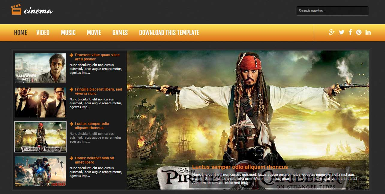 Cinema Responsive Blogger Template