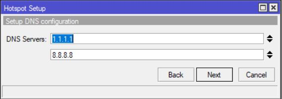 Hotspot DNS Server setup mikrotik