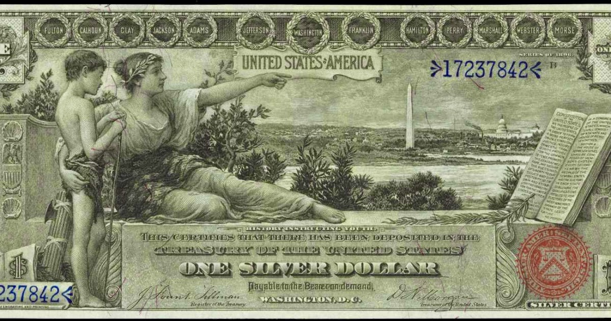 old coins and paper money