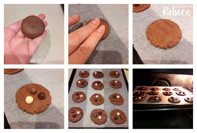 Galletas de chocolate fáciles: el formado