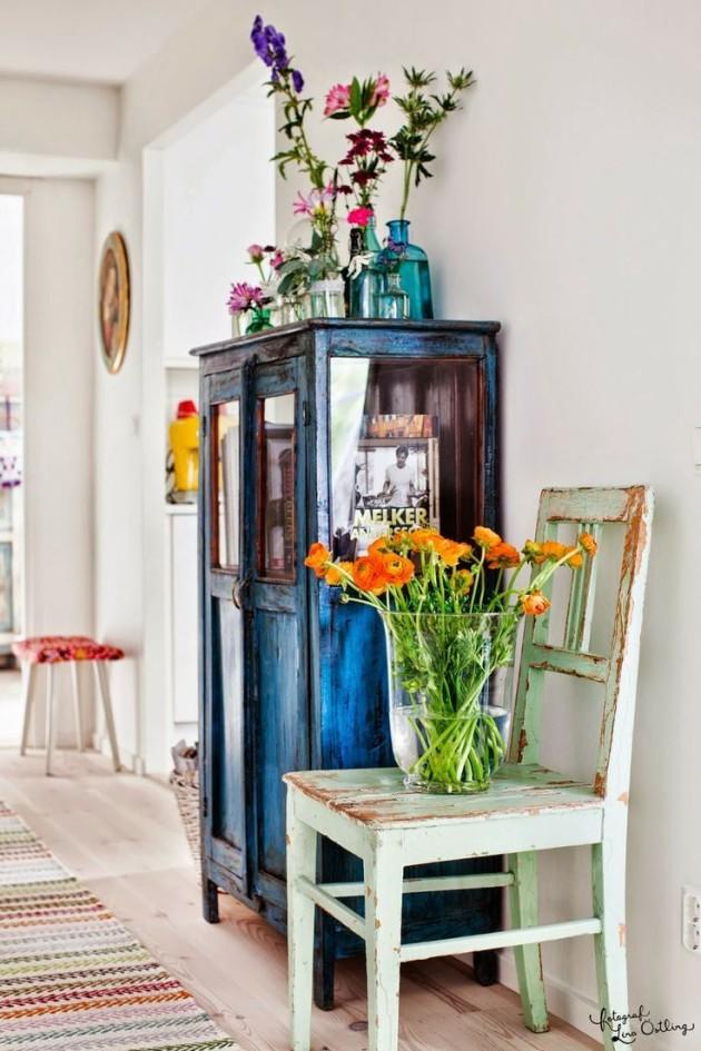 mobiliario para decorar al estilo vintage con muebles decapados