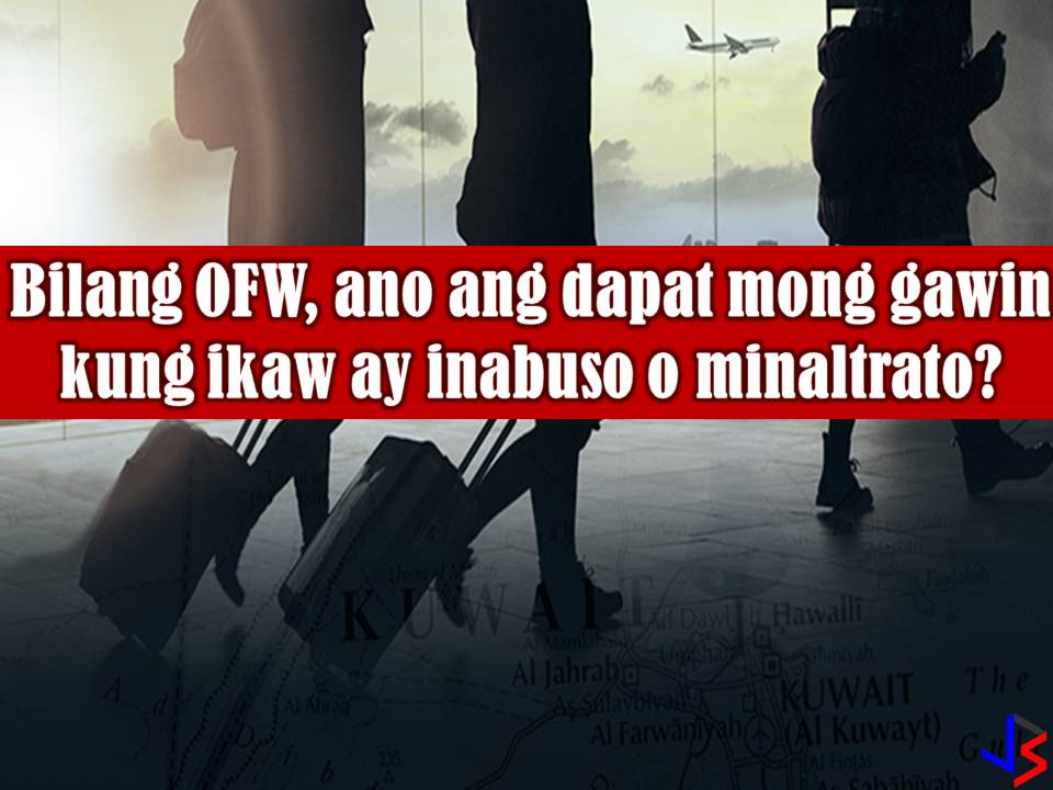 Maltreatment or abuse of Overseas Filipino Workers (OFWs) while working abroad is a very common thing especially for Filipino maids. According to Philippine Statistics Authority, one in every two Filipino women working abroad is employed as household service workers or service sectors.  Read more: https://www.jbsolis.com/2018/03/as-ofw-what-you-should-do-in-case-of-abuse-heres-govt-suggestion.html#ixzz592mHR182