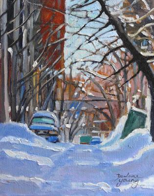 winter Montreal Scene le plateau
